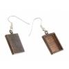 Bezel Handmade Earring Square 16x2mm Antique Copper